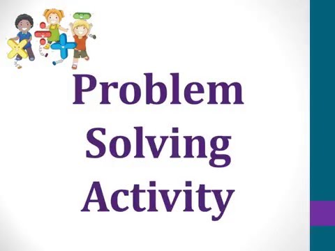 Summer Swimming -- Problem Solving Activity