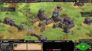 AoE 2: Définitive Edition - EXPERT PLAYERS ! THE VIPER VS HERA - MAP GOLD RUSH