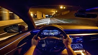 2019 AUDI A8 | AMBIENT LIGHTING | NIGHT DRIVE POV by AutoTopNL