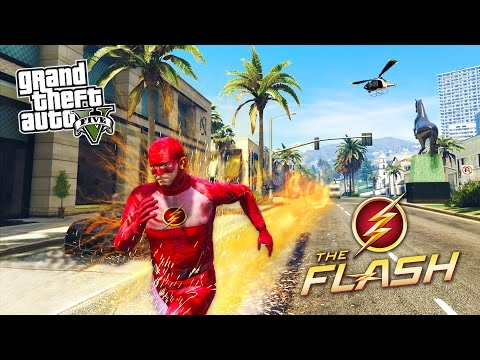 GTA 5 PC Mods - THE FLASH MOD w/ SUPER SPEED! GTA 5 The Flash Mod Gameplay! (GTA 5 Mods Gameplay)