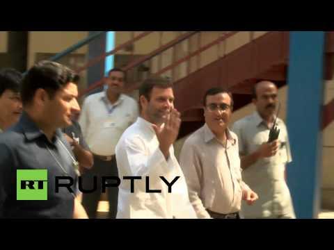 India: Rahul Gandhi casts his vote in New Delhi