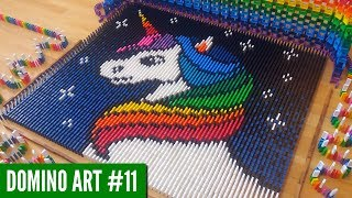 RAINBOW UNICORN MADE FROM 5,500 DOMINOES | Domino Art #11