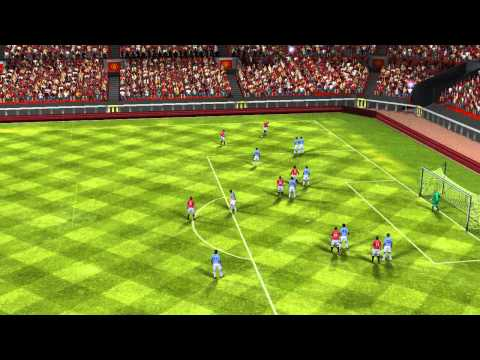 Wayne Rooney's Great Corner Side Free Kick FIFA 14 - Manchester Utd VS Manchester City