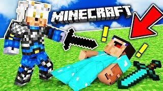 CUM SA BATI PE ORICINE CU PUMNUL!!! - Minecraft Kit PVP