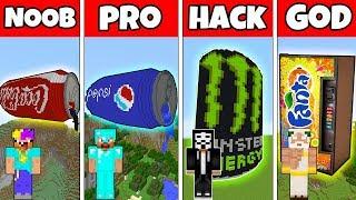 Minecraft Battle: PEPSI vs COCA COLA vs FANTA EPIC CHALLENGE  - NOOB vs PRO vs HACKER vs GOD