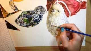 Speed Painting - Winged Nativity Watercolor