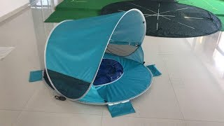 How to folding the baby pool tent shelter