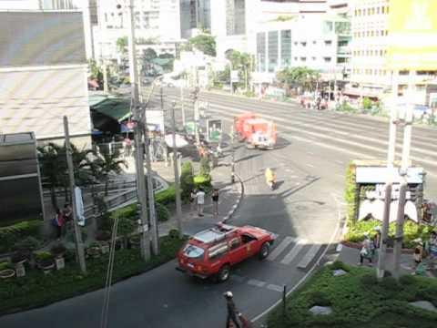 Bangkok  Sukhumvit road Asok – Firefighters – march 2012