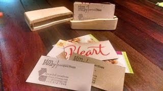 easy upcycled homemade business cards by tim sway perspectives
