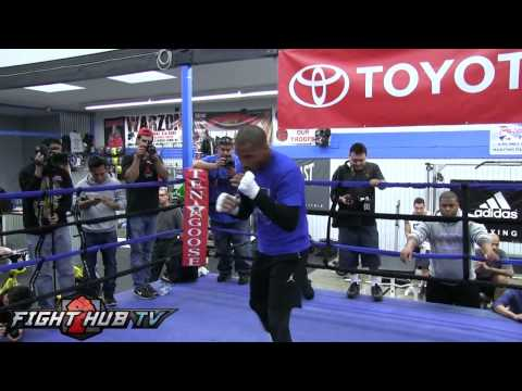 Andre Ward vs. Edwin Rodriguez- Ward full shadow boxing warm up Image 1