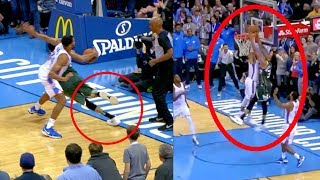 Giannis Game Winner | Dunk On Westbrook | But Appears to Step Out of Bounds (Random Moments)