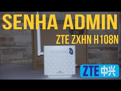 Alterar senha de administrador do modem ZTE ZXHN H108N V2.5