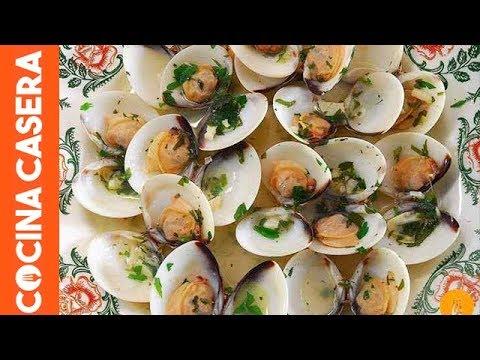 Almejas en salsa. Recetas de mariscos