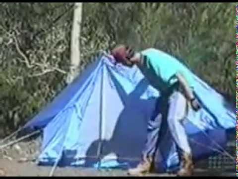 Юмор.Палатка,варан и розыгрыш от товарища.