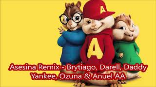 Asesina Remix Brytiago Darell Daddy Yankee Ozuna Anuel Aa Alvin Y Las Ardillas
