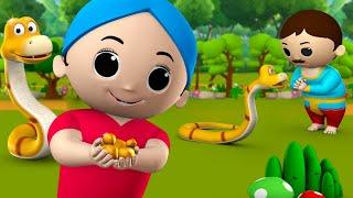 Magical Gold Snake Story सोना देने वाला सांप हिन्दी कहानी 3D Animated Kids Hindi Moral Stories Tales