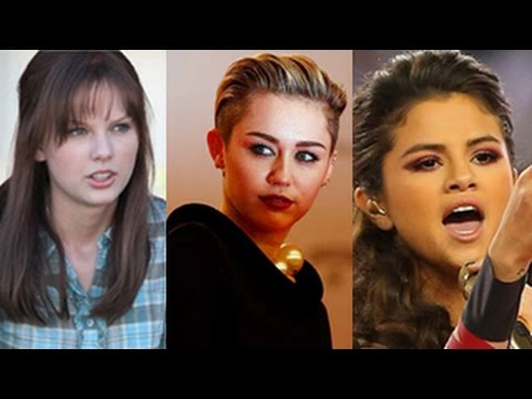 Miley Cyrus, Selena Gomez, Taylor Swift, Rihanna & More - Top 10 Celebrity Fights and Cat fights -- klip izle