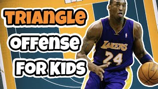 Triangle Offense Basketball Playbook For Elementary Basketball Teams | Triangle Offense For Kids