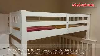 Mẫu Giường tầng cao cấp giá rẻ cho trẻ em tại TPHCM - Giường tầng gỗ cao cấp HAPPY