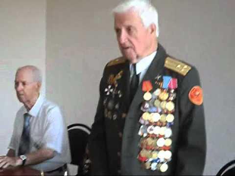 Речь ветерана на встрече с немецкими студентами