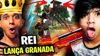 O REI DO LANÇA GRANADA DO FREE FIRE! - EL GATO