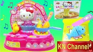 Đồ chơi nấu ăn Bếp mèo Hello Kitty có vòi nước thật Toy kitchen playset Kids Toys
