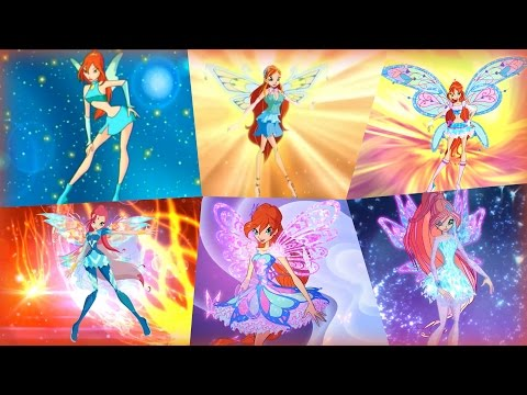 Winx Club - Bloom All Full Transformations up to Tynix! HD!