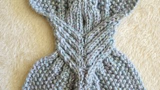 How to Knit Right and Left Leaning Cables