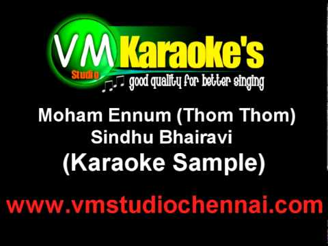 Sindhu Bhairavi - Moham Ennum (karaoke Sample) video