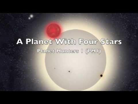 New Planet Found in Four-Star System | Planethunters PH1 NASA Kepler Space Telescope HD Video