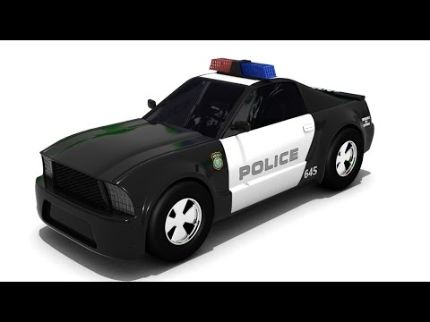 car cartoons for children - car cartoon - police cars cartoons for children - Sergeant Cooper