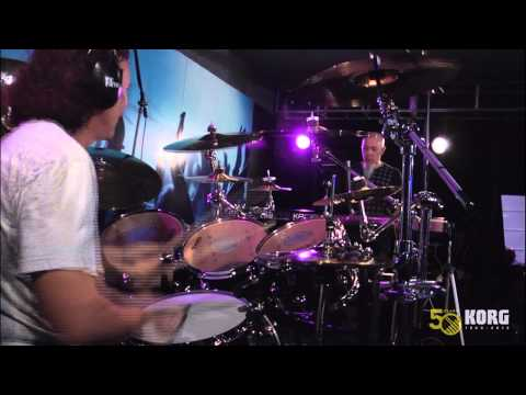 Jordan Rudess and Rod Morgenstein perform at Korg USA's NAMM 2013 boot...