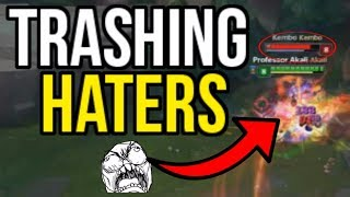 TRASHING A TOXIC HATER!! (MASTER PROMOS) Ft. Pants are Dragon | League of Legends