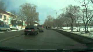 hit n run driver chase   street justice on dashcam in Russia