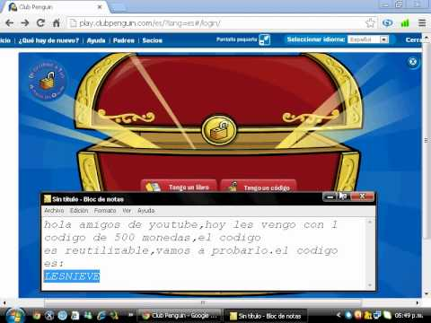 Codigo Reutilizable de 500 Monedas Club Penguin Febrero 2013