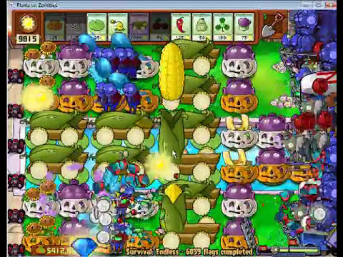 Plants vs Zombies Survival Endless 6000 plus flags - by Hardinero