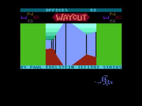 Wayout (1982) First 3D game with 360 degree freedom