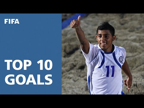 The 10 most outrageous goals from the thrilling FIFA Beach Soccer World Cup Ravenna 2011, including two by Brazilian Andre and a quick-thinking header that t...