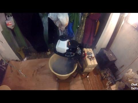первый пуск лодочного мотора видео