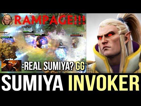Genius SumiYa Invoker Rampage Combo Dota 2