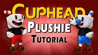 DIY Cuphead & Mugman Plushies - FREE PATTERN! Sock Plush Tutorial