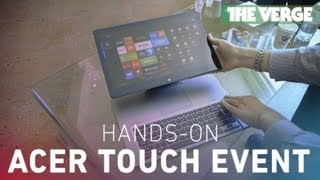 Acer touch event hands-on