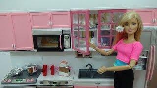 💜 Đồ chơi nhà bếp của búp bê Barbie 💜 Barbie Modern Kitchen Play Set