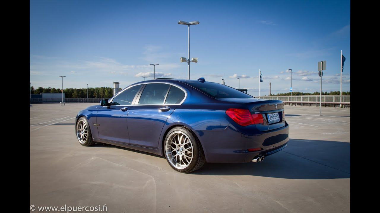bmw 730d deep sea blue f01 asa 20 h r springs blacked out youtube. Black Bedroom Furniture Sets. Home Design Ideas