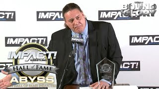 Abyss' Emotional Hall of Fame Induction Speech | Bound for Glory 2018