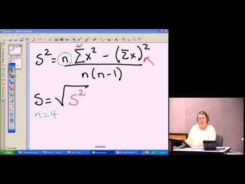 Standard Deviation Shortcut formula