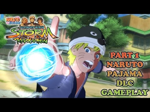 Part 1 Naruto Pajamas DLC Gameplay - Naruto Shippuden Ultimate Ninja Storm Revolution