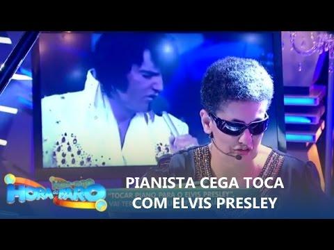 Pianista cega toca 'ao lado' de Elvis Presley e emociona Rodrigo Faro