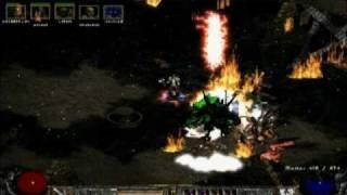 Diablo II - Summoner & Javazon Uber Trist run in 33 seconds!!! (v1.13)