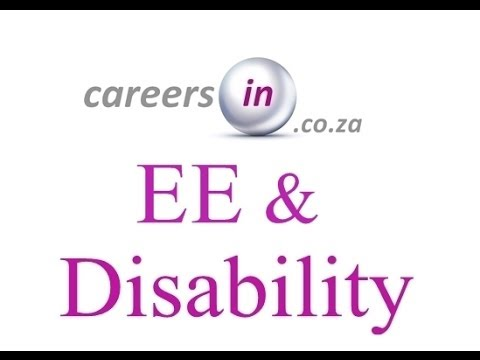 Careers in ZA - Employment equity & disability careersin.co.za video